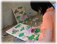 バリ絵画を長期で学べるコース|Rindu House バリ島のカルチャー教室